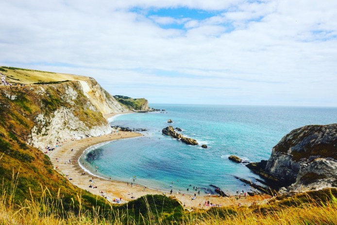 Overlooking Man O' War beach in Dorset