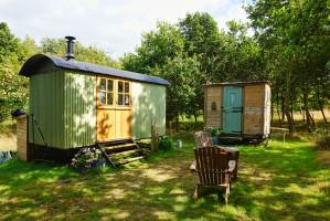 Shepherd's Hut at Warmwell House in Dorset