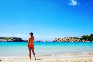 On the beach in Arenal d'en Castell, Menorca.