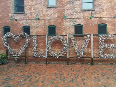 Love sign, Distillery District, Toronto.