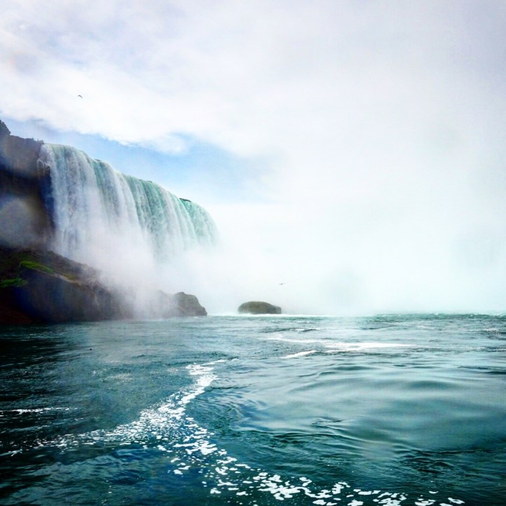Niagara Falls view from river level