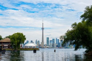 CN Tower from Toronto Island.