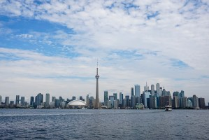 Downtown Toronto from the water.