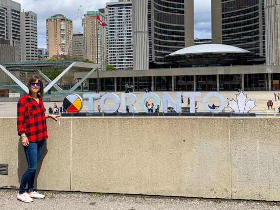 Me by the Toronto sign.