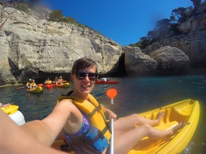 A selfie in my kayak, Menorca