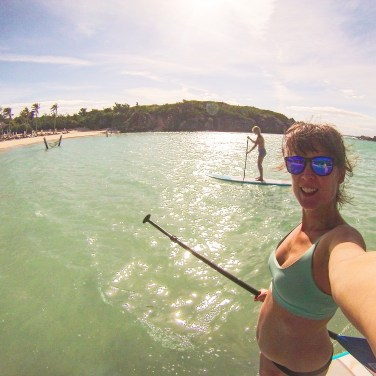 Paddle boarding in Bermuda