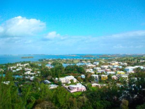 The view from Gibbs Hill Lighthouse, Bermuda