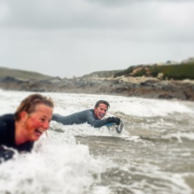 Body Boarding at Fistral Beach, Newquay