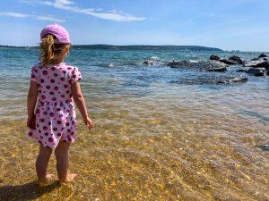 Emily on Milford on Sea Beach