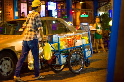 A street vendor in Bangkok
