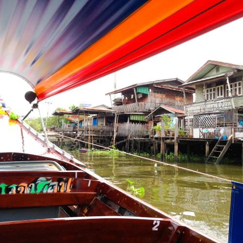 Exploring the Chao Phraya River by longtail boat in Bangkok