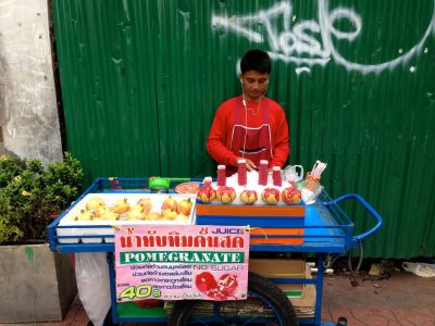Fresh pomegranate juice, Bangkok
