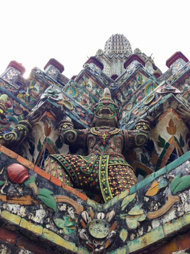 The beautiful painted porcelain of Wat Pho, Bangkok