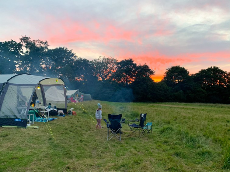 Our tent at Benville Manor campsie, Dorset