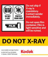 Do Not Xray Label