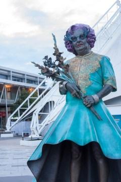 Melbourne: statua sul lungofiume Yarra