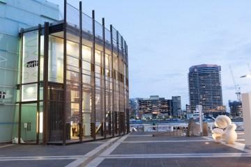 Melbourne: vista dal porto durante l'ora blu