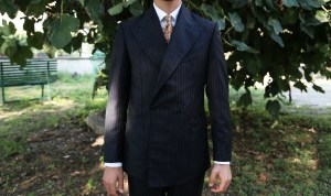Sartoria Sodano bespoke pinstripe suit.