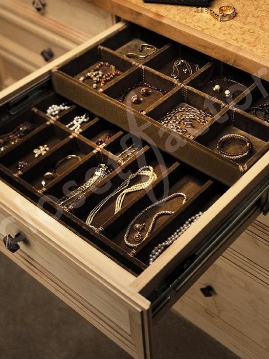 Custom Double Deck Jewelry Drawer (Los Angeles)