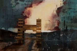 sans titre, nicolas marciano, huile sur toile, 130x195 cm, 2018