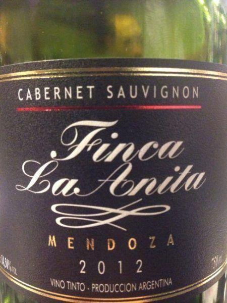Finca La Anita Cabernet Sauvignon 2012