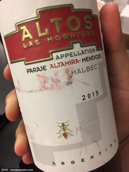Altos Las Hormigas Appellation Altamira 2015