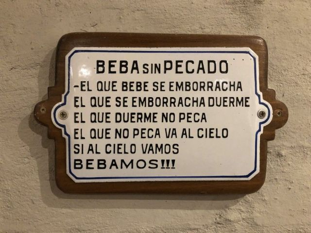 Cartel en Bodega Viamonte, Mendoza.