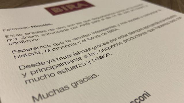 Invitación al Zoom con BIRA Wines