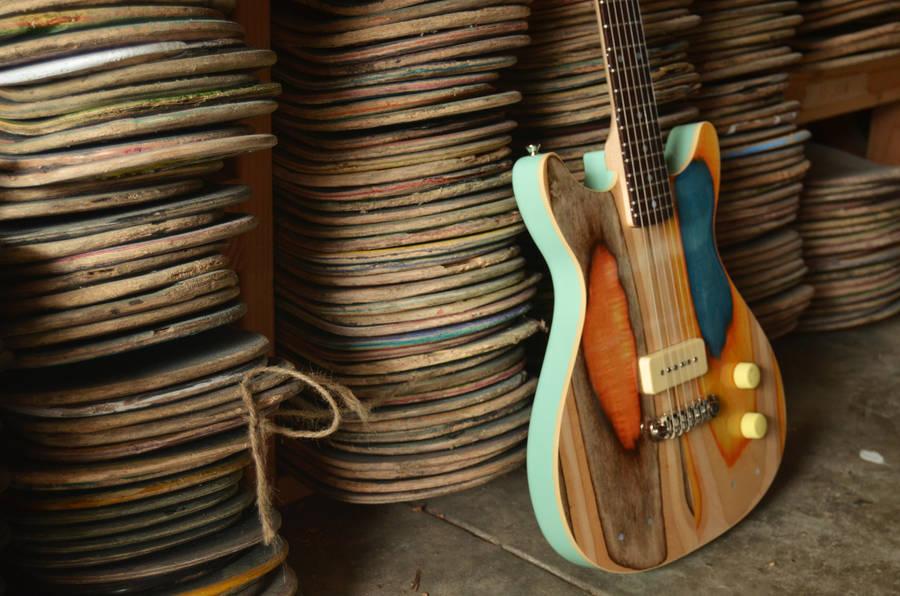 Des planches de skate recyclées en guitares