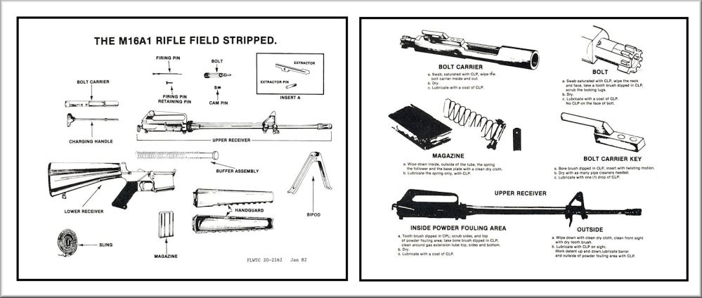 medium resolution of m16a1 field stripping chart training aid
