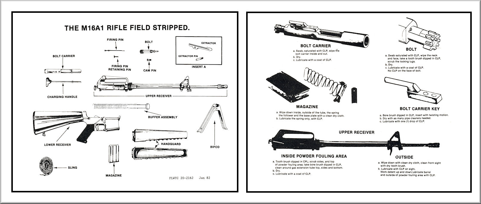 hight resolution of m16a1 field stripping chart training aid