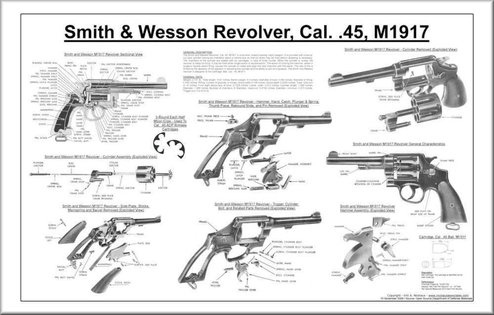medium resolution of  smith and wesson cal 45 m1917 revolver poster