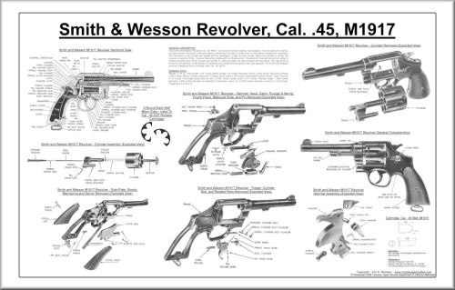 small resolution of  smith and wesson cal 45 m1917 revolver poster