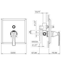 single lever for built in shower with diverter [ 1150 x 1150 Pixel ]
