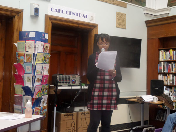 West Bromwich at War Event - My Book Reading Success - me reading