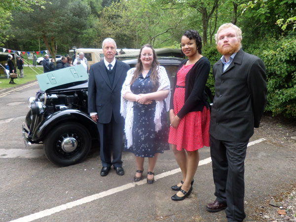 From Sunrise to Sunset Book Tour – Museum of Cannock Chase's VE Day Celebration - Group Photo
