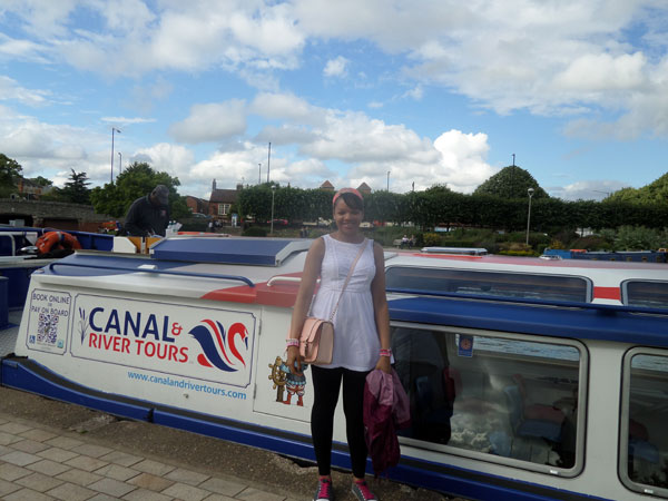 Me standing by the Canal and River Tour Boat