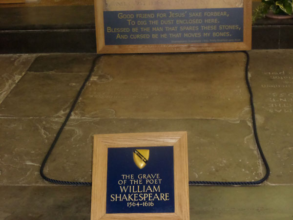 William Shakespeare's Grave