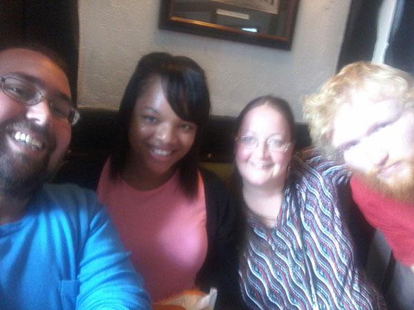 Ye Olde Leathern Bottel Group Selfie
