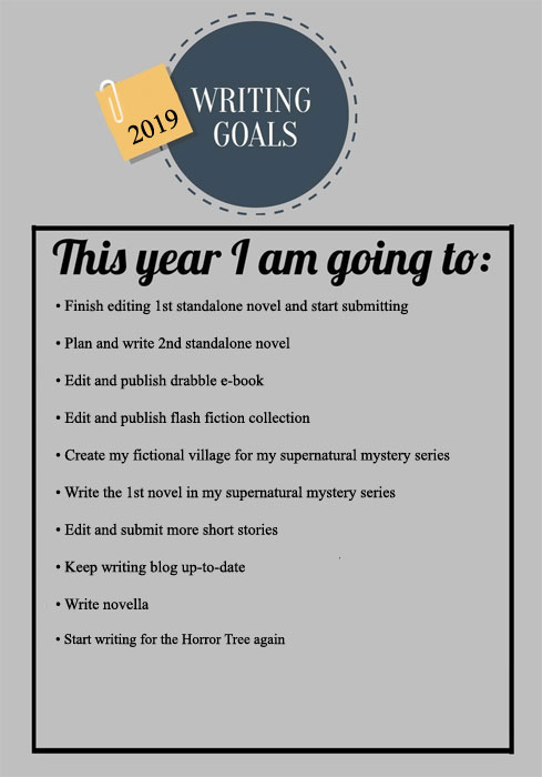 2019 Writing Goals