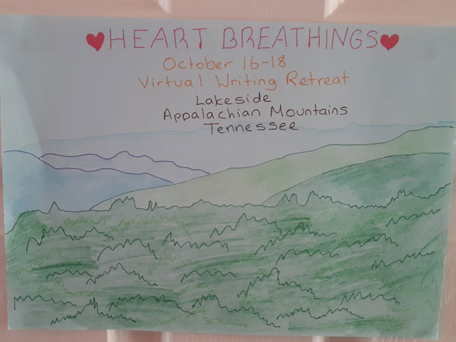 My First Time at a Heart Breathings' Virtual Writing Retreat - My Door Sign