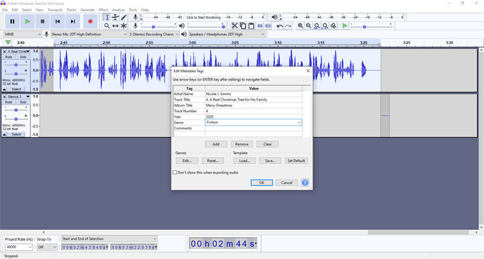 Creating the Audiobook - Step 12b