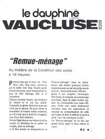 Remue-ménage - Le Dauphiné