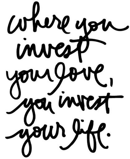 invest love