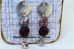 Rough Garnet and Pewter