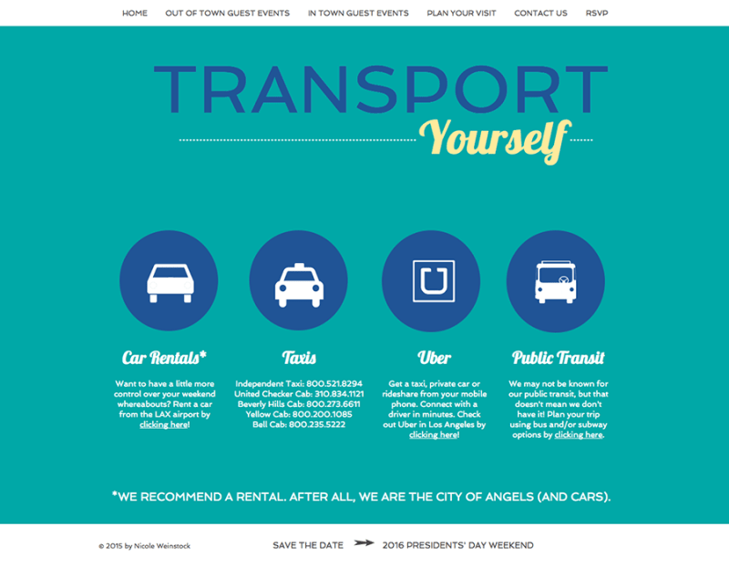 Transportation page screenshot