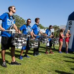 Line of drummers
