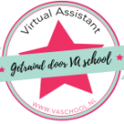 Logo Virtueel Assistente, getraind door VA school