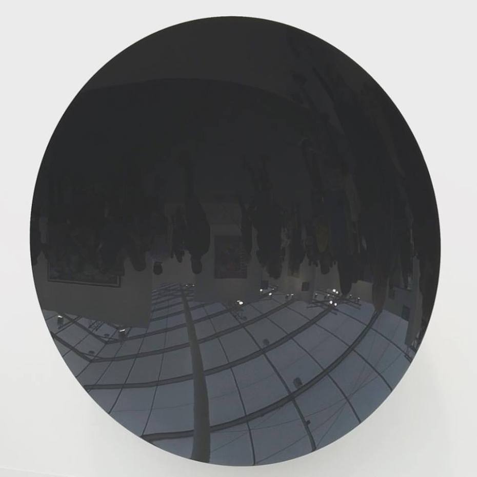 """Anish Kapoor, """"Untitled (Storm Grey)"""", 2015, at Lisson Gallery."""