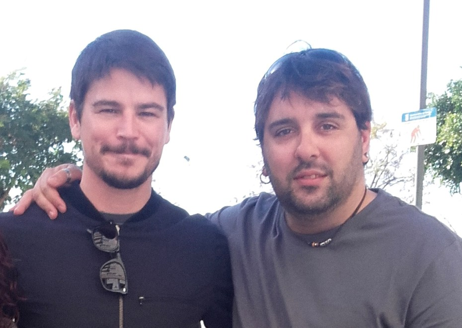 "Director Davide Melini with the ""Penny Dreadful"" star Josh Hartnett"